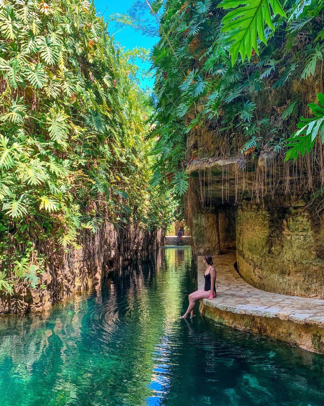 Cenote Mucuyché en Abalá, Yucatán