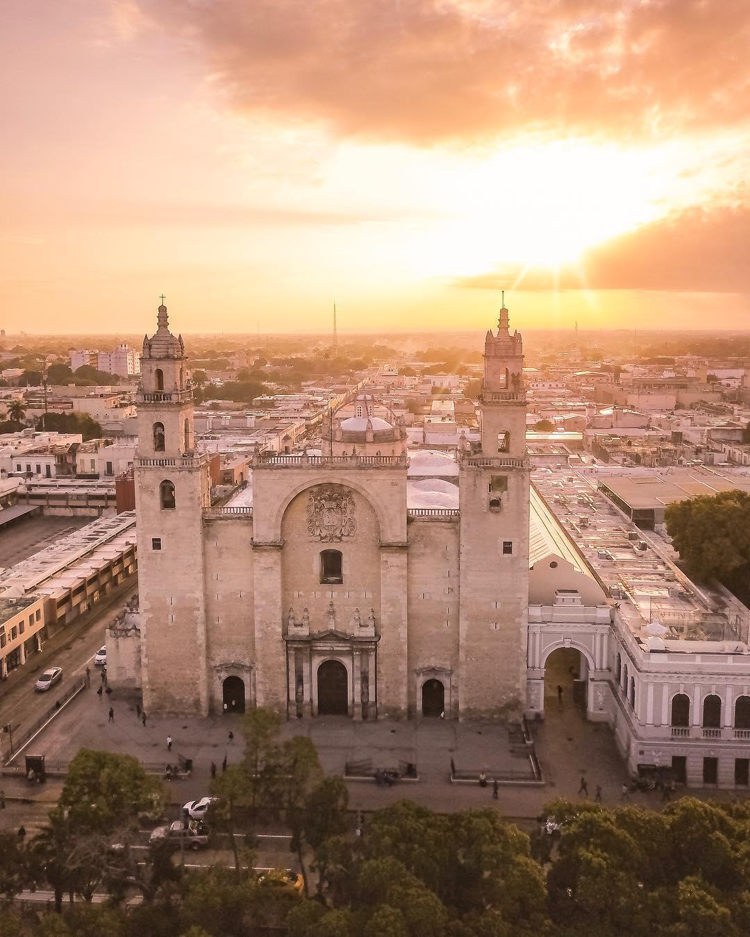 iglesias mas hermosas de yucatan, iglesia de la catedral de merida, top yucatan iglesias, top yucatan churches, iglesias de la peninsula de yucatan