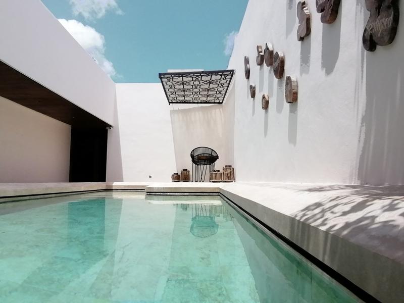 Piscina del hotel agua de cienega hunucma yucatan