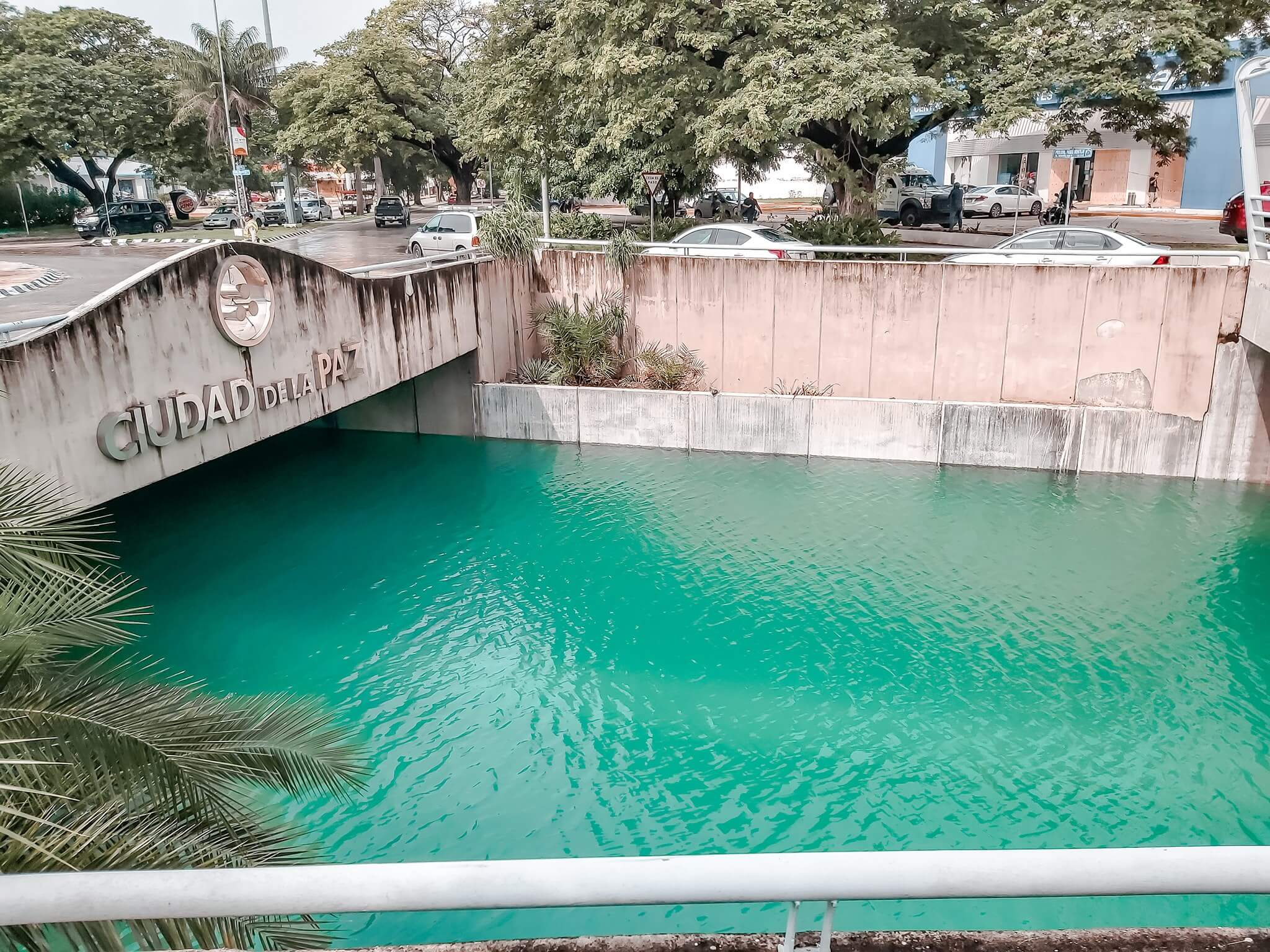paso desnivel merida paso deprimido inundado agua azul cenote turquesa