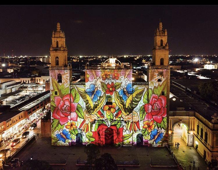 Mérida Yucatán fotos de noche en drone