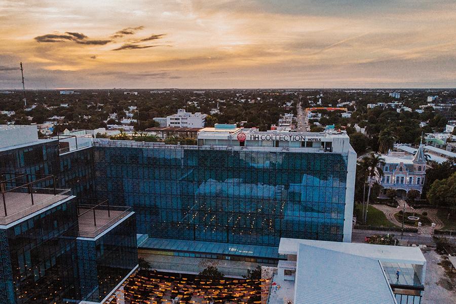 NH Collection Merida Paseo de Montejo vista aérea