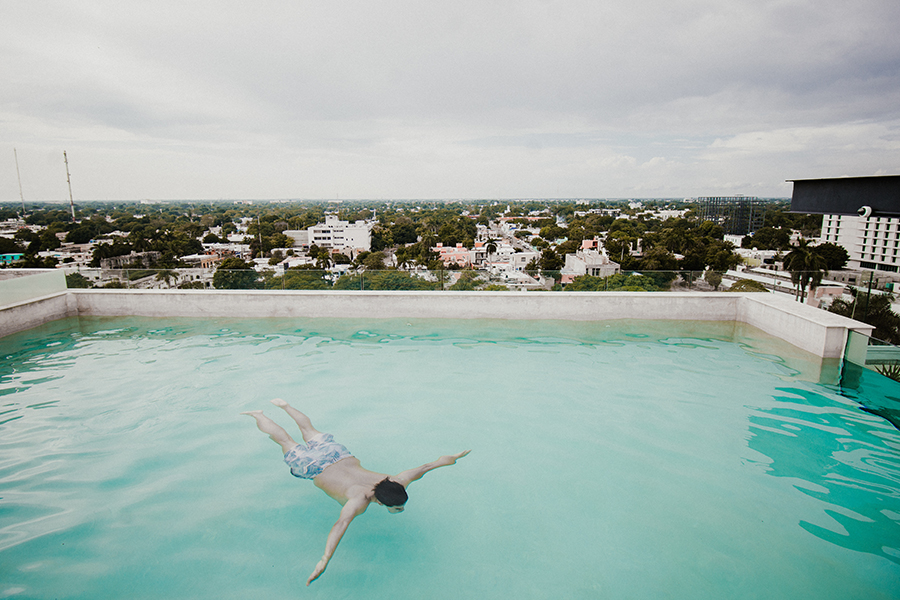 rooftop pool NH Collection Merida
