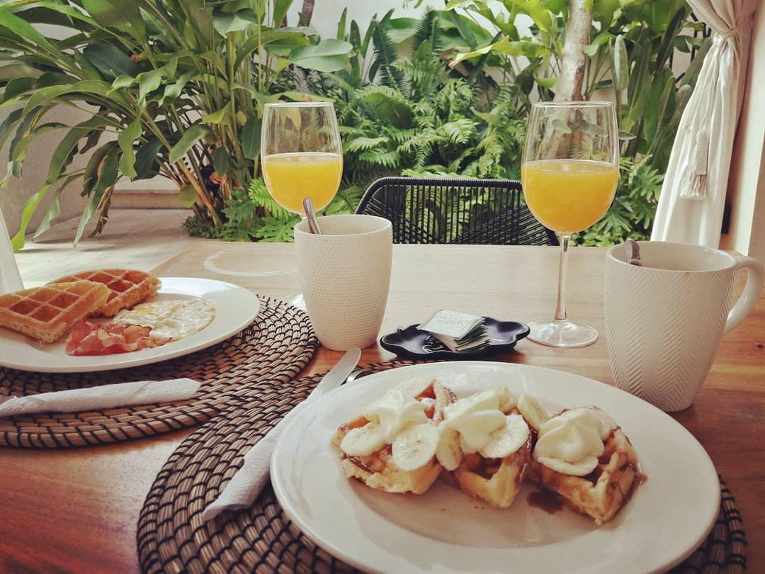 desayuno breakfast en el hotel agua de cienega hunucma yucatan