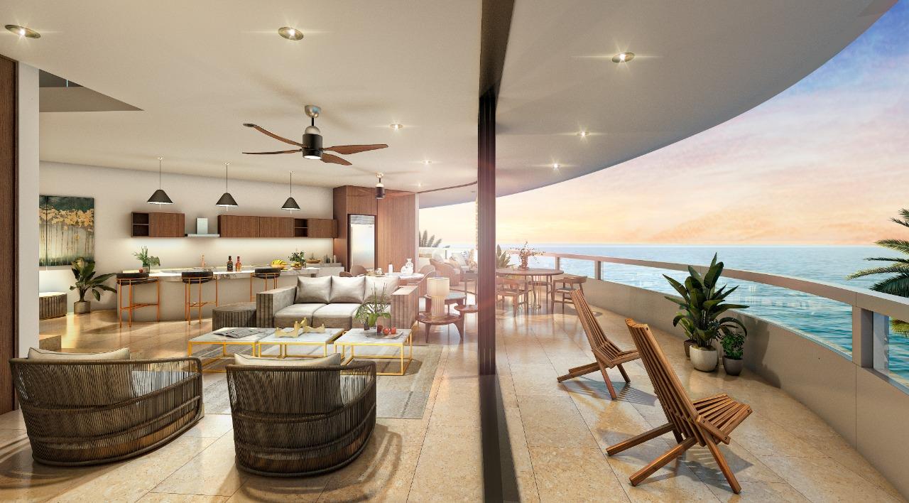 Navela telchac departamento de luja en la playa de yucatan
