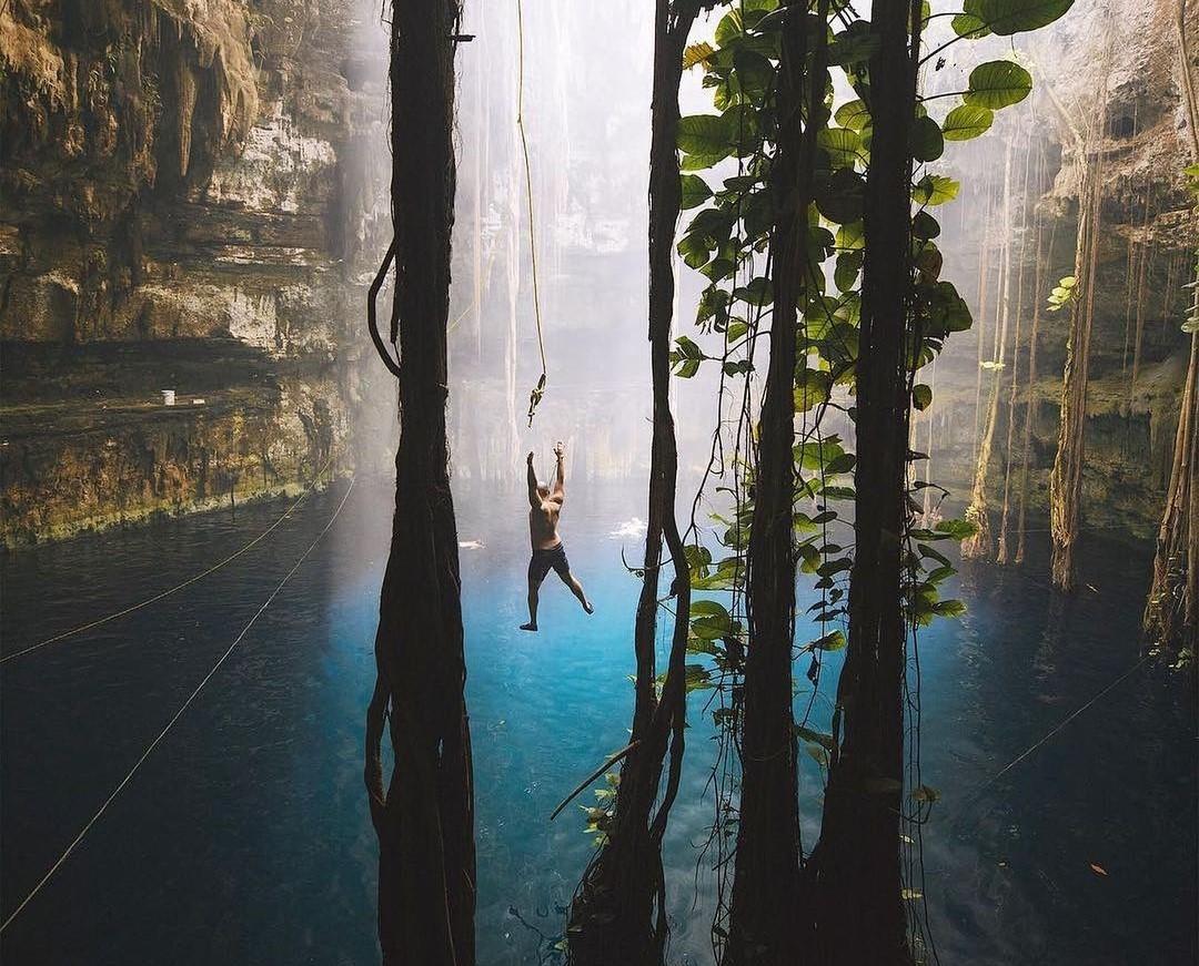 Cenote Oxmán, una selvática piscina natural en Yucatán