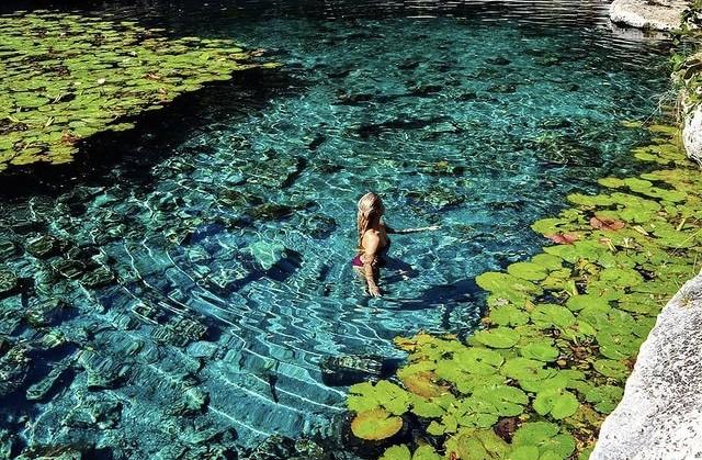 Cenote Xlacah, Un estanque de cuento de hadas
