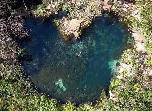 ¿Un cenote en forma de corazón? Así es el estanque de agua cristalina de Tulum